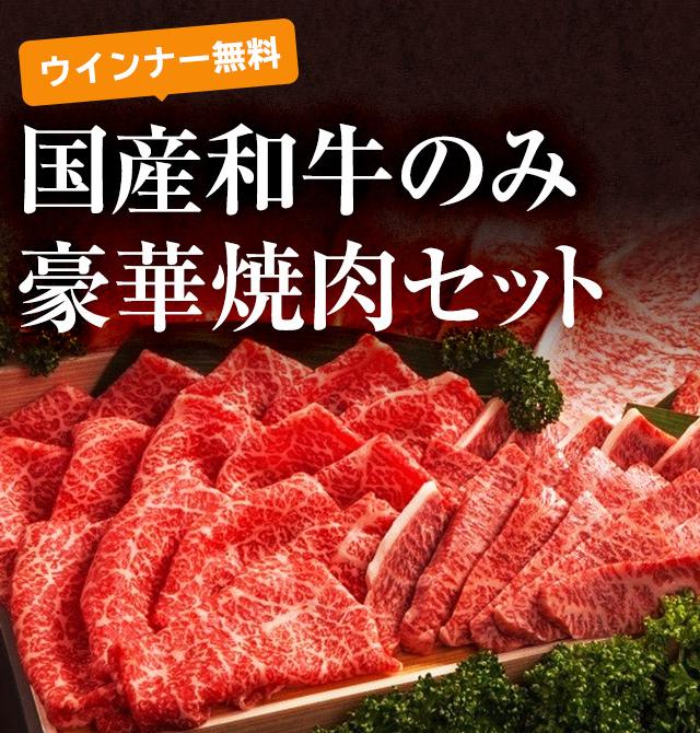 ウインナー無料 国産和牛のみ焼肉BBQセット